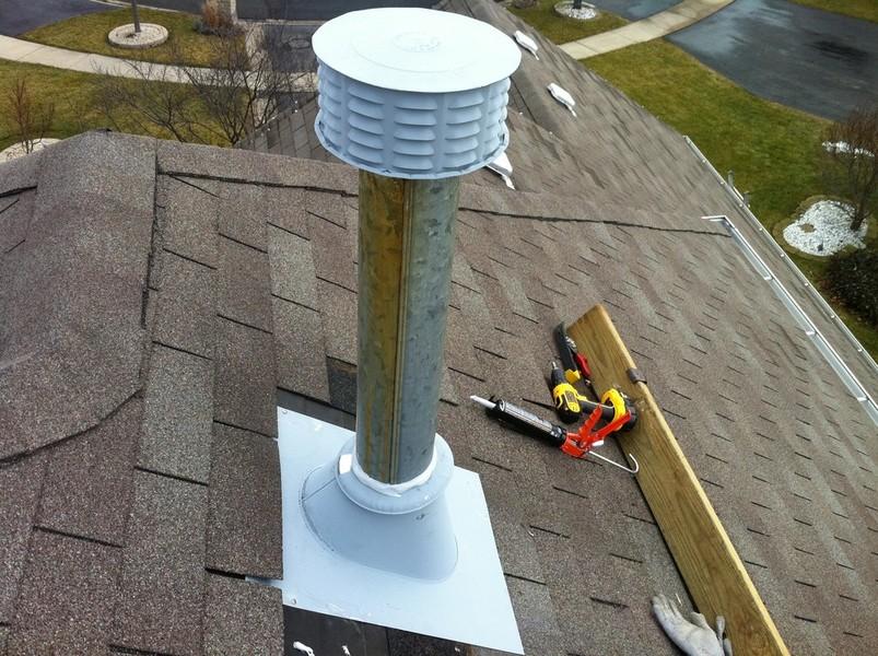 Thiel Roofing Furnace Flue