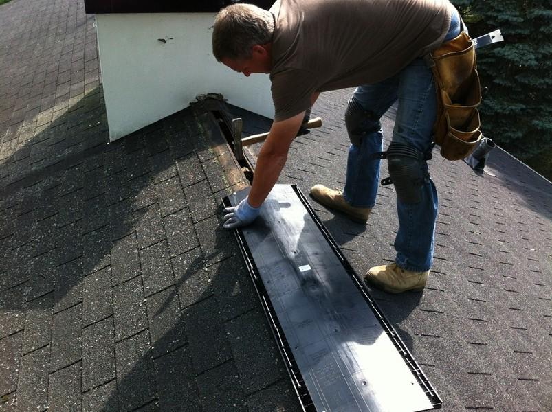 Thiel Roofing Ridge Vent Repair
